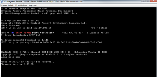 Boot The Appliance Server, Press The F5 Function Key And Run The HP Smart Storage  Administrator Utility.
