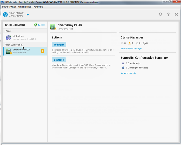 Configuring RAID on the Disk