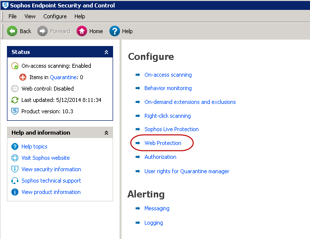 Sophos® Endpoint Security and Control Version 10 3 Settings for