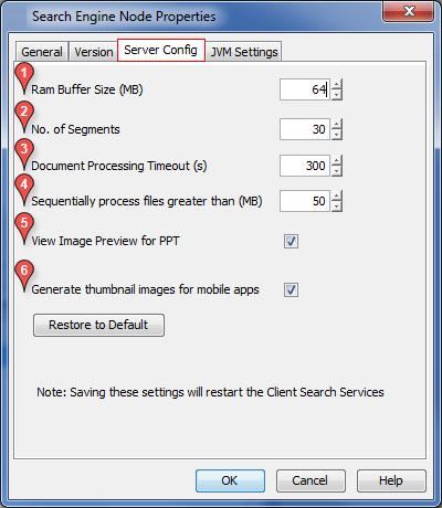 Advanced Configuration - Search Engine